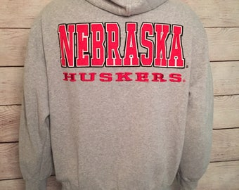 University of Nebraska Cornhuskers Zip UP Hoodie Sweatshirt