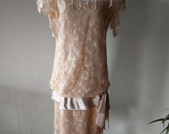 Vintage 1960's drop waist dress
