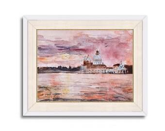 Original Watercolor | VENICE |RossoVenezia|