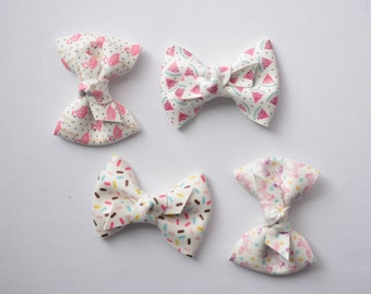 Faux leather knot bows || whimsical & summer prints