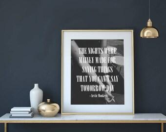 Do I Wanna Know? Lyrics - Arctic Monkeys | Printable Wall Art With Instant Download