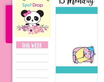 Hippo Sick Planner Stickers, Hippo Planner Stickers (HP21)