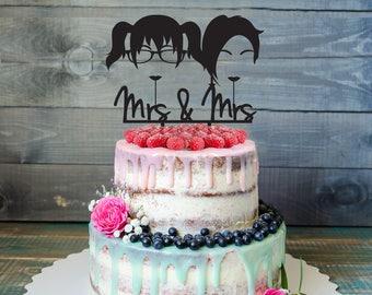 Lesbian Wedding Cake Topper, Same Sex Cake Topper, Gay Wedding Cake Topper,Gay silhouette,Homosexual Wedding Cake Topper,lesbian cake topper