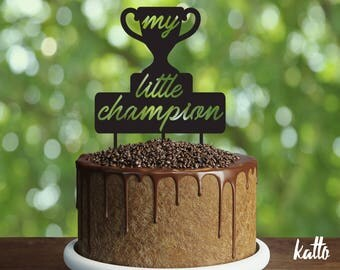 My little champion Cake Topper, 1st Birthday Cake Topper, custom Cake Topper, First Birthday Cake Topper,Baby shower, birthday children cake