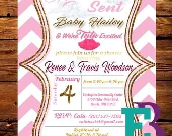 Heaven Sent Baby Shower Invitation DIGITAL FILE