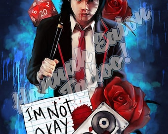 I'm Not Okay - My Chemical Romance Digital Art Print - 8x10