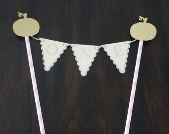 Pumpkin bunting cake topper | Pumpkin first birthday | Our little pumpkin theme | Pumpkin birthday decorations | Fall birthday decorations