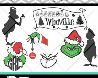 The Grinch svg, Cristmas svg, Files for Cricut, Files for Silhouette, Printable svg, Cutting Files, dxf, png, AI files.