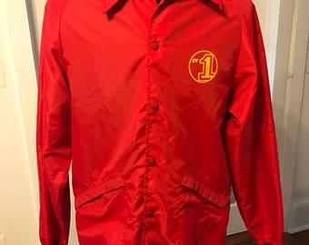 Vintage 1970's Red #1 King Louie Windbreaker