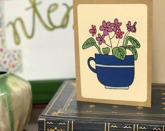 Violets Note Card