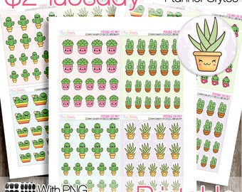 2 Dollar Tuesday, Printable Planner Stickers, Succulents Stickers, Two Dollar Tuesday, Planner Printable, Planner Stickers, Kawaii Stickers