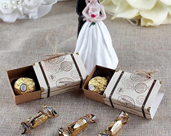 25x Suitcase Favor Boxes, Destination Wedding Favor Boxes,DIY party favor, Vintage Favor Box ,Candy Box, Birthday favor, Baby Shower