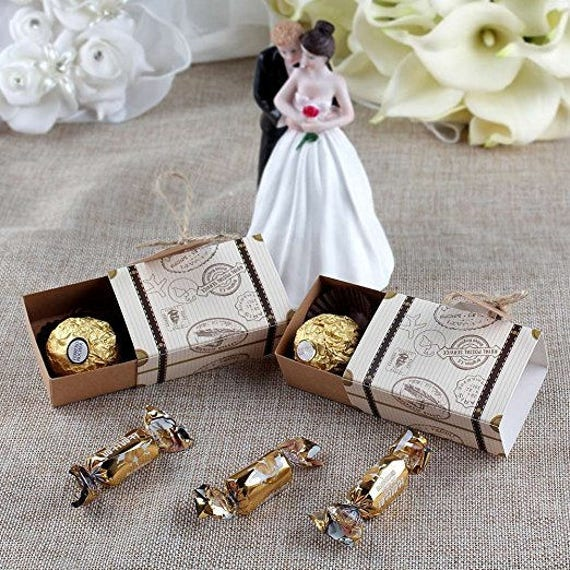 10x Suitcase Favor Boxes Destination Wedding BoxesDIY Party Vintage Box Candy Birthday Baby Shower