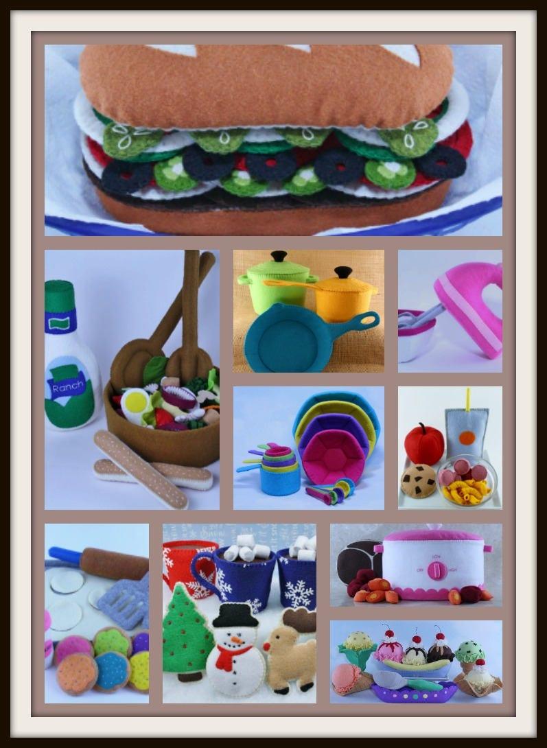 Felt Food Toys R Us : Felt food pattern set toys sewing