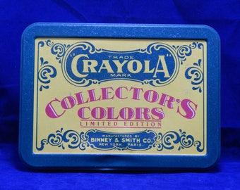 1991 Crayola Crayon Collector's Colors Limited Edition Tin