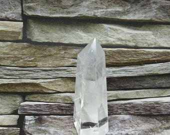 Natural Clear Quartz Point,  Clear Quartz Wand 80mm