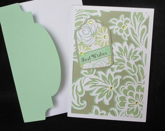 Wedding Card, Best Wishes, 25th, 40th, 50th, Anniversary Card, Laser Cut, Floral, Special Occasion, Fancy, Layered, Pretty Card, For Couple