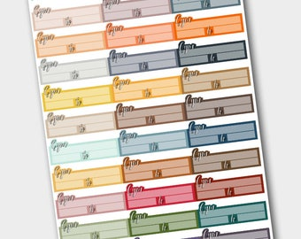 Functional Gym / Workout Label Sticker set for various planners - Fall