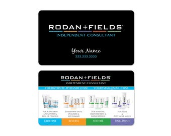 Rodan + Fields Business Cards
