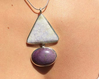 The Guatemala Lila and Sugilite, jade set in 925 sterling silver