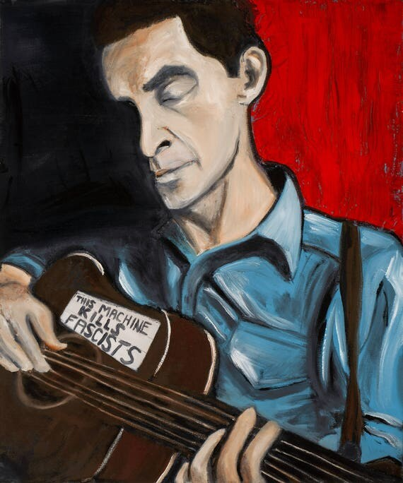 Woody Guthrie--10x12 Hand-Numbered Print