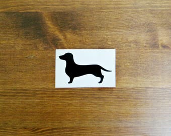 Dachshund Dog Vinyl Decal // Choose Your Color and Size