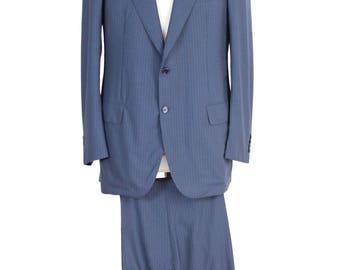 NWT Brioni wool blue jacket pants men's Parioli size 50 it made italy vintage