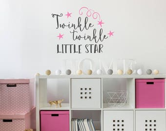Removable Vinyl Wall Decal Twinkle Twinkle Little Star Baby Shower  Decorations   Twinkle Twinkle Little Star Part 78