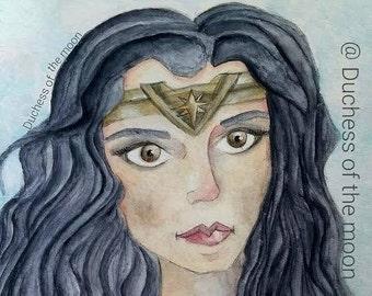 Wonder Woman, Gal Gadot 9x12 DC Comics-Art Print