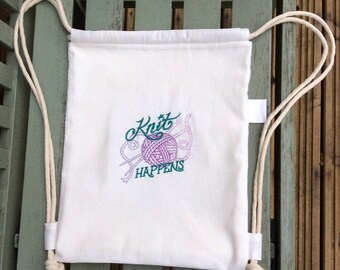 Project Bag:  Knit Happens