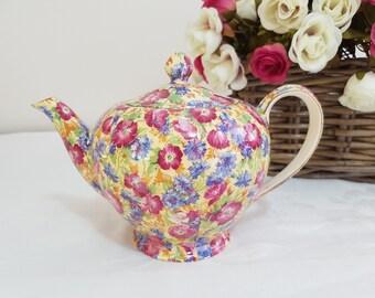 Royal Winton Royalty Chintz Teapot Teapot VIntage c1934-1950