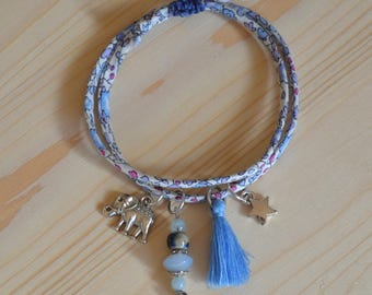 Liberty Blue by Manaka.lab Elephant cord bracelet