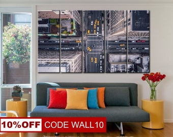 New York City, 5th ave vertical, New York canvas, USA City canvas, New York print, New York wall art, Cityscape print, City wall art