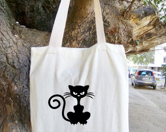 Are you Kitten Me Right Meow Tote Bag, Grocery Tote, Book bag, Eco Friendly Bag, Funny Tote, Canvas Bag, Birthday Goody Bag