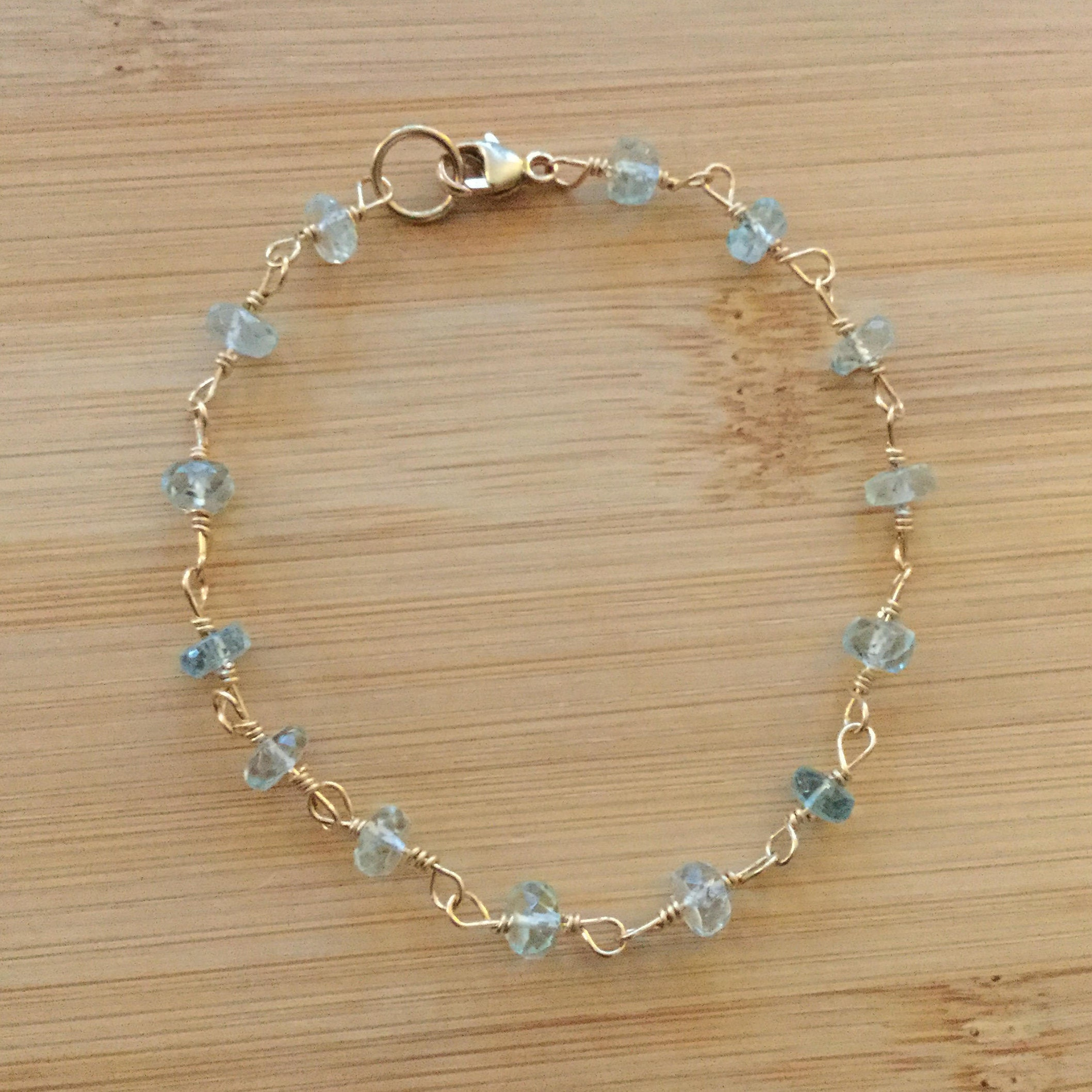 turquoise anklet beaded handmade anklets aquamarine ruby twisted htm gemstone silver