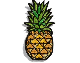 Pineapple Patch, Pineapple Applique, Embroidered Pineapple, Iron On Patch, Embroidered Patch, Tropical Fruit Patch, Summertime Patch
