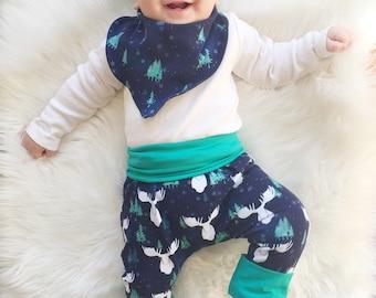 Baby Harem Pants | Grow With Me Pants | Baby Harems | Baby Harem Pants | Grow With Me Baby Pants | Baby Boy Pants | Moose Pyjamas