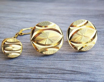 fathers day gift ideas for men Vintage cuff links Mens cufflink Vintage jewelry Gold cufflinks Vintage cufflink Business cufflink cuff link