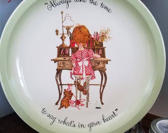 1972 Vintage Holly Hobbie Collector Plate