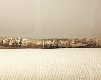 Treebones - hand-carved driftwood wand