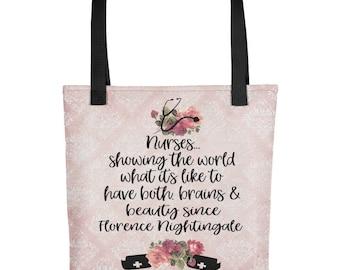 Tote bag - Nurse tote bag - nurse quotes