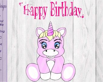 Baby Unicorn svg, Birthday svg, cute animals, unicorn, fcm files, dxf file, Cricut svg, die cut, Scanncut, kids svg, iron on, Nursery svg