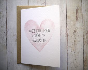 Funny birthday card // Funny anniversary card // Card for boyfriend // Card for girlfriend // Card for Husband // Card for Wife //