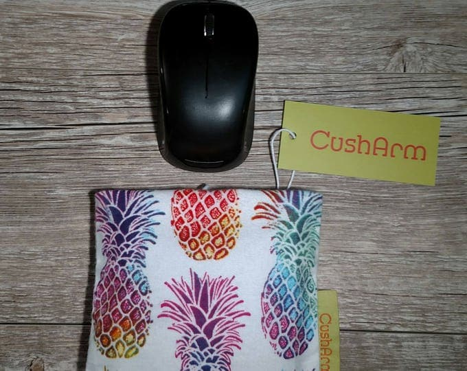 Pineapple Crush CushArm mini Computer Wrist Support, perfect for a stand up desk, Comfort and Support