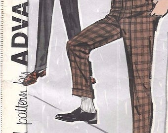 "Vintage 1960's Sewing Pattern Boy's Slacks Cuffed Pockets 12 Waist 25.5"" Rare"