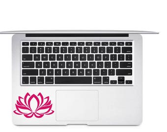 Lotus Flower Decal, Flower Decal, Lotus Car Decal, Laptop Decal, Gift for Friend, Zen Decal, Nature Lover Decal, Yoga Decal, Boho Decal