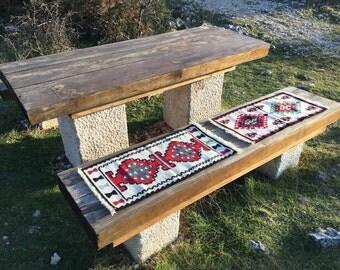 Two Bosnian hand woven rugs