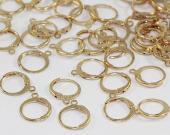 50 Pcs Raw Brass Earring, Ear Hooks, Ear Wires, Earring Findings, SGN9