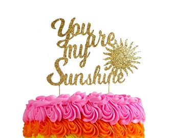 You Are My Sunshine Cake Topper // Baby Shower Cake Topper // Gender Reveal Cake Topper // First Birthday Cake Topper // Birthday// Sunshine