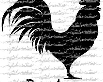 Rooster and Hen SVG, PNG, Silhouette Cut, Farmhouse SVG, Instant Download, Cut Files, Cricut